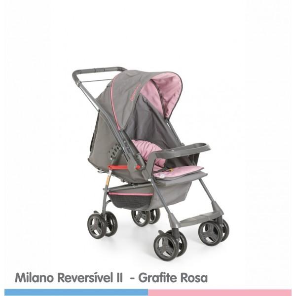Carrinho de Bebê Milano Reversível Rosa