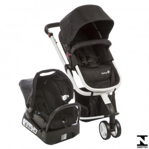 Carrinho de Bebê Mobi TS Black & White