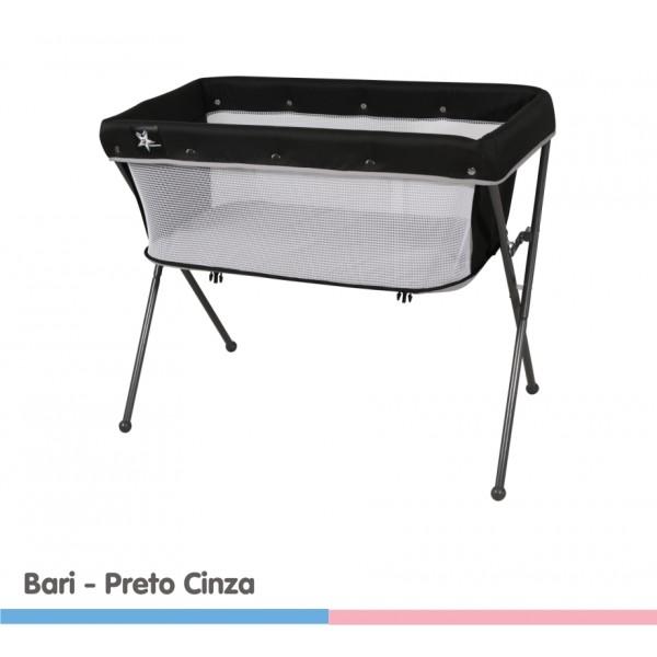 Berço Bari Preto/Cinza