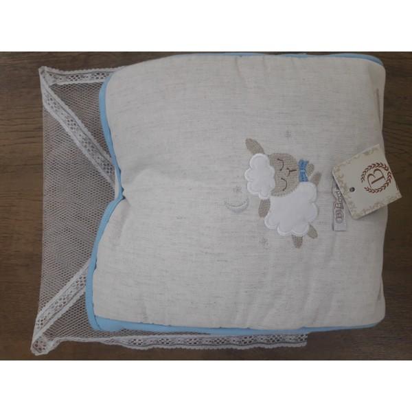 Capa Para Bebê Conforto Acolchoada Ovelha Azul