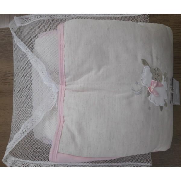 Capa Para Bebê Conforto Acolchoada  Ovelha Rosa