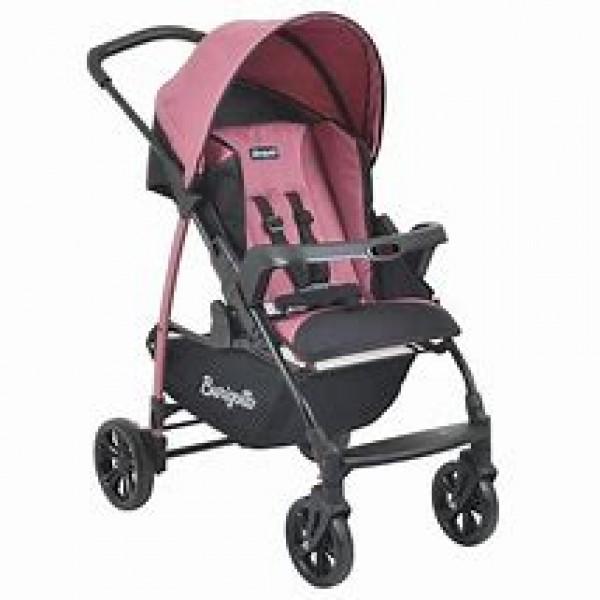 Carrinho de Bebê Ecco Preto / Rosa