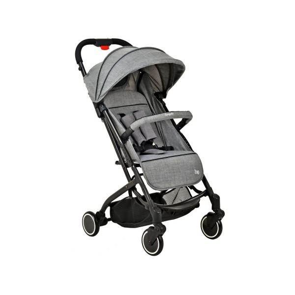 Carrinho de Bebê Zap Cinza Burigotto