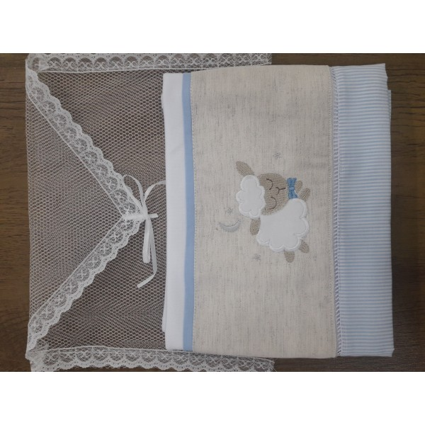 Fralda de Ombro Ovelha Azul