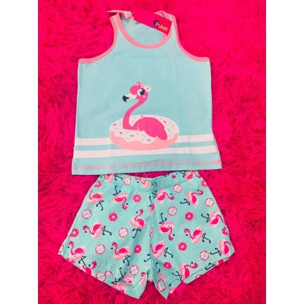 Pijama Short Doll Nadador k Flamingo (Tam P a G)
