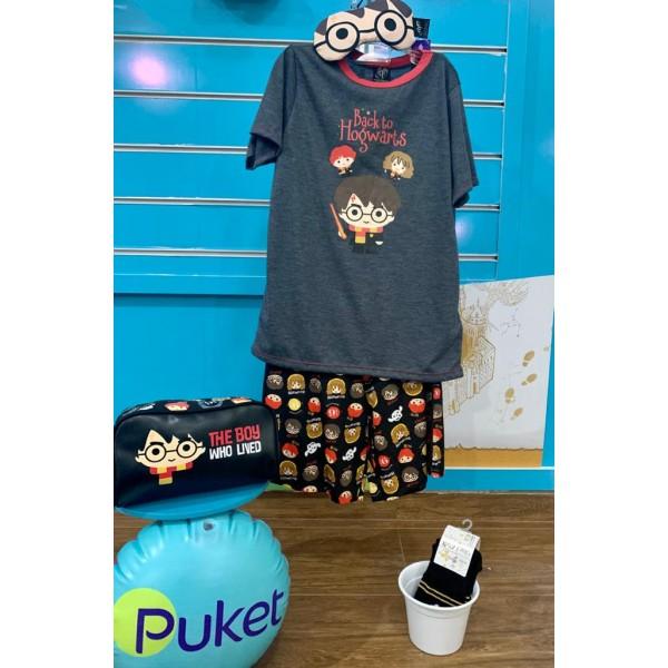 Pijama Harry Potter + Necessaire + Tapa Olho + Mei...
