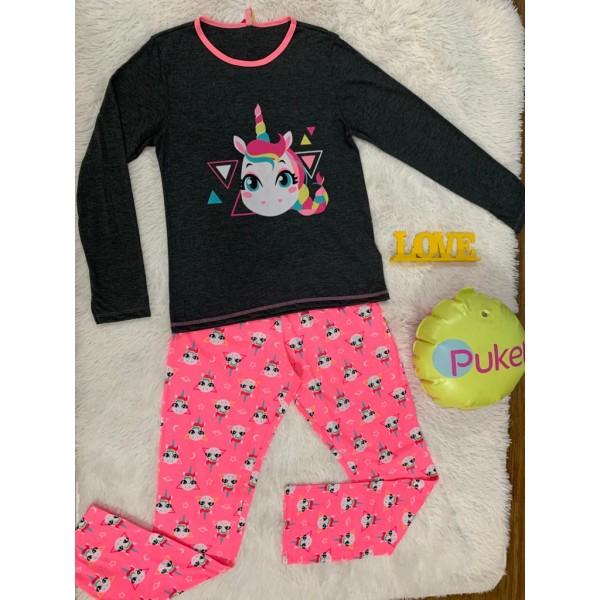 Pijama Manga Longa Unicórnio Puket