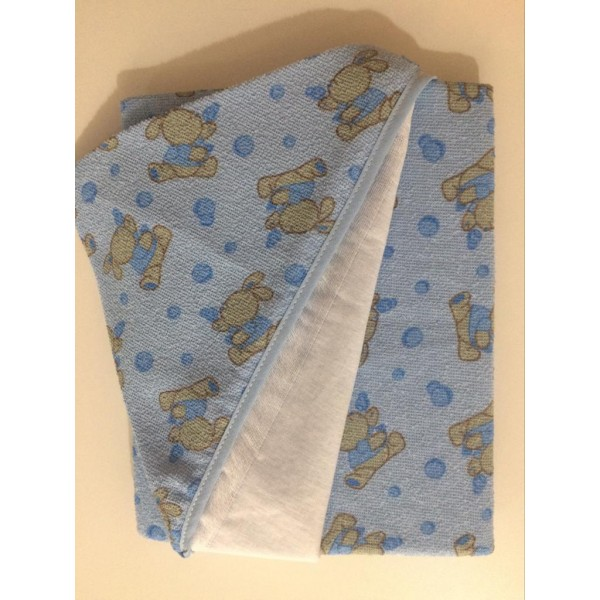 Toalha de Banho com Capuz Carícia Baby Azul