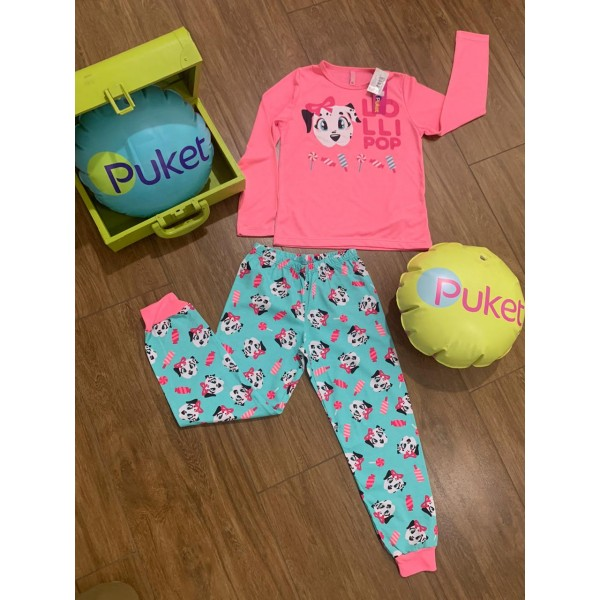 Pijama Manga Longa Dálmata ( 1 ao 6 ) Puket