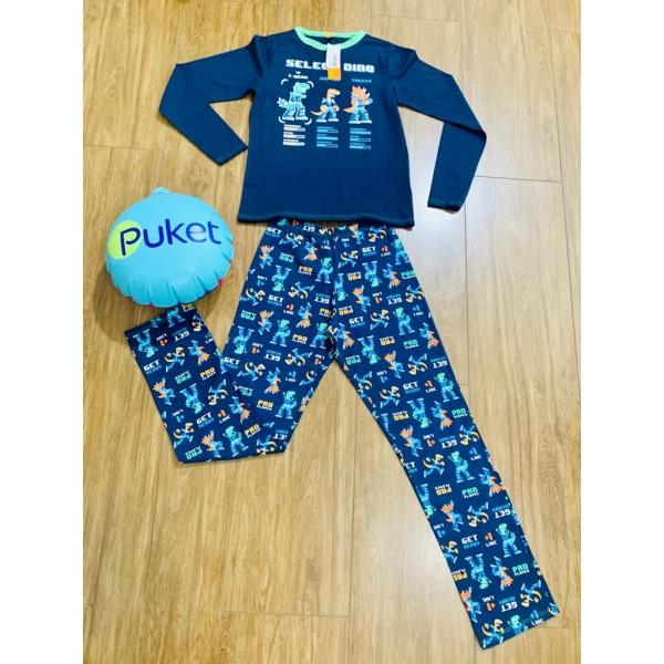 Pijama M Longa Dino Puket ( 8 a 12 )