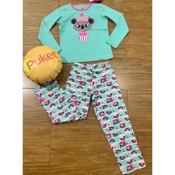 Pijama M Longa Coala Eco Puket ( 8 ao 12 )