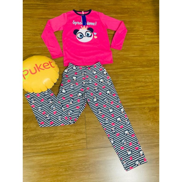 Pijama M Longa Panda Puket ( 8 ao 12 )