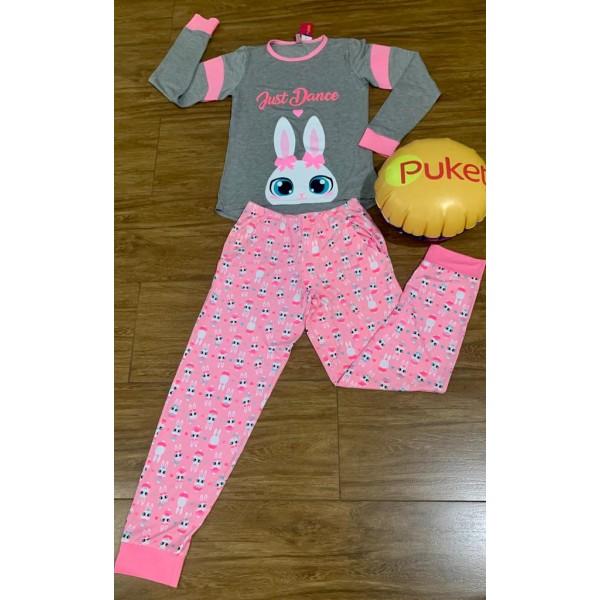Pijama M Longa Coelha Bailarina Visco Puket ( 8 a ...