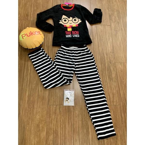 Pijama M Longa Harry Potter Soft Puket ( PP ao GG ...