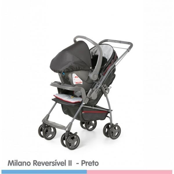 Carrinho Milano Reversível Preto
