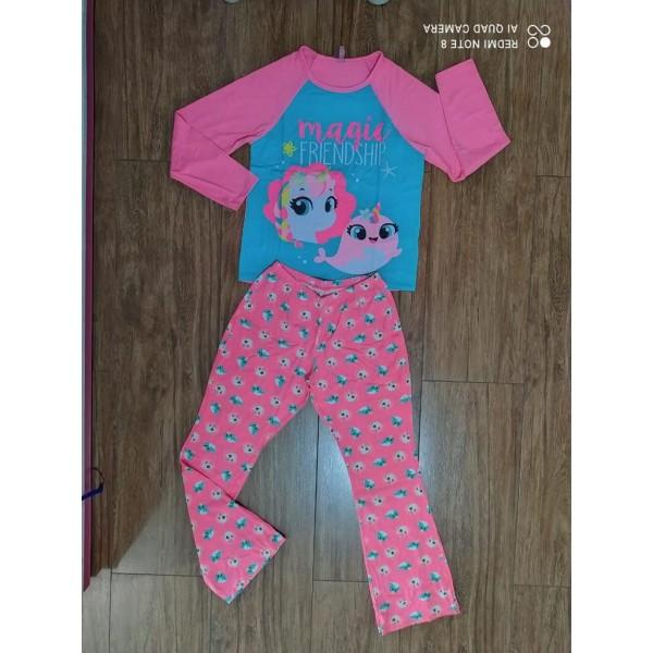 Pijama Manga Longa Unicórnio Visco Puket (08 ao 14)