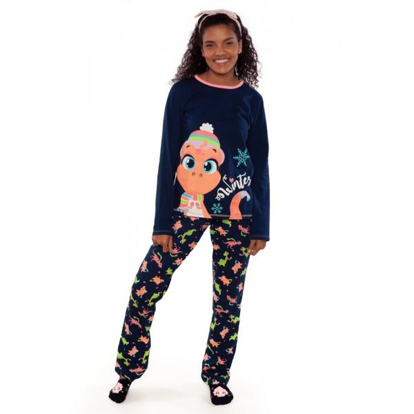 Pijama Manga Longa Dina (Tam PP a G)