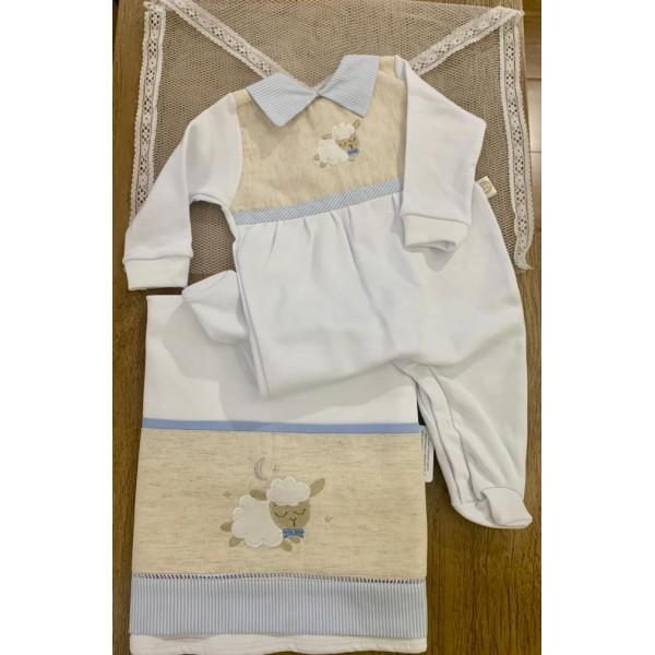 Saída de Maternidade Ovelha Azul