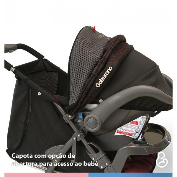 Carrinho de Bebê San Remo Preto