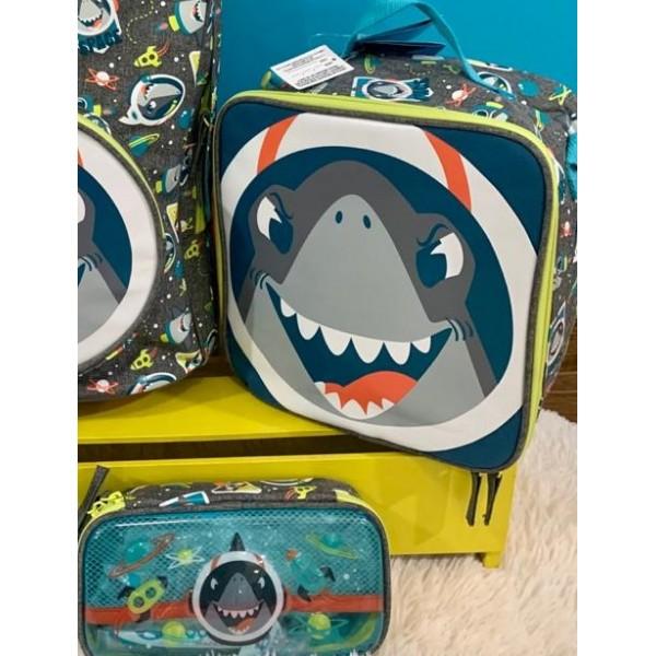 Lancheira + Estojo Tubarão Puket